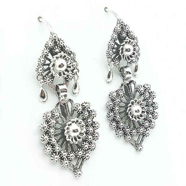 Silver earrings Galician